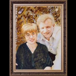 Портрет из янтаря ручной работы на заказ. Изготовление семейных портретов из янтаря на заказ.