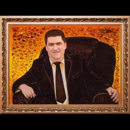 Создание янтарного портрета нестандартных размеров в Киеве