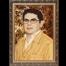 Янтарный портрет под заказ на подарок